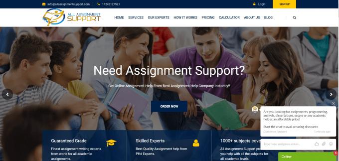 Allassignmentsupport.com Website