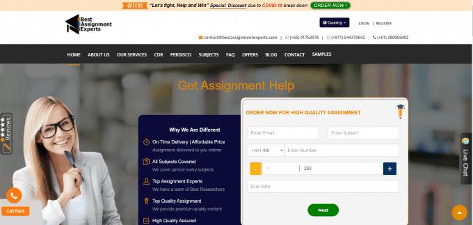 Bestassignmentexperts.com Website